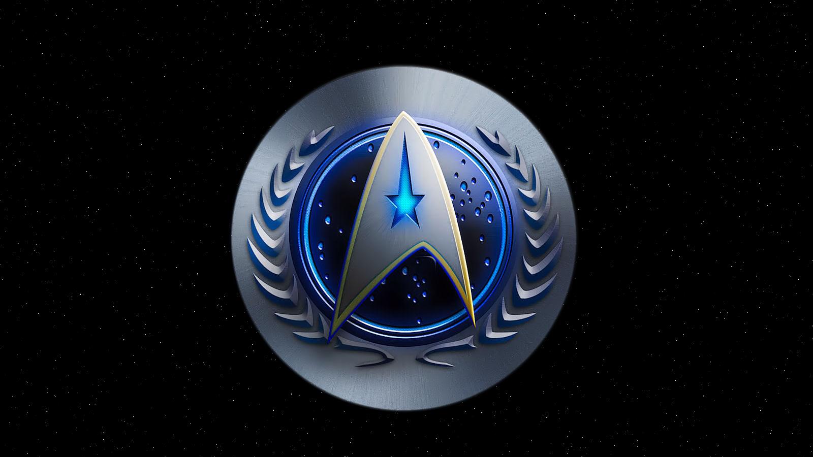 The star trek gallery logos blue prints - Star trek symbol wallpaper ...
